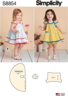product image for Simplicity Toddler's Underwear and Pinafore Dress Sewing Patterns, Sizes 1/2-4