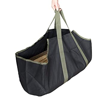 Playdo multifunción leña Log Carrier lona resistente y duradera leña bolsa con asa portabole para al aire libre Camping, Senderismo, Caza: Amazon.es: Hogar