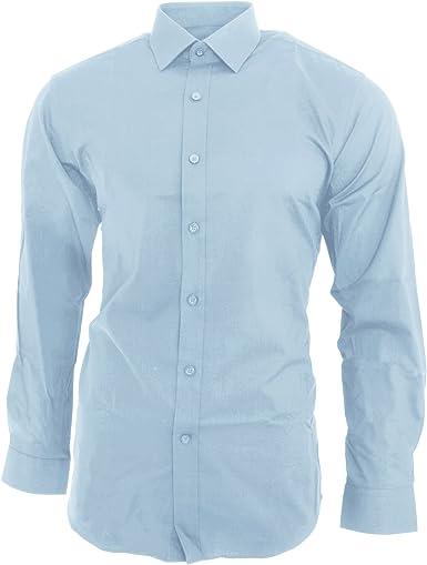 Brook Taverner - Camisa de entalle ajustado y manga larga ...