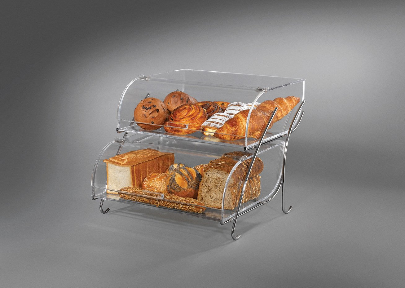 Rosseto BAK2937 2-Shelf Bakery Display Case, Clear by Rosseto