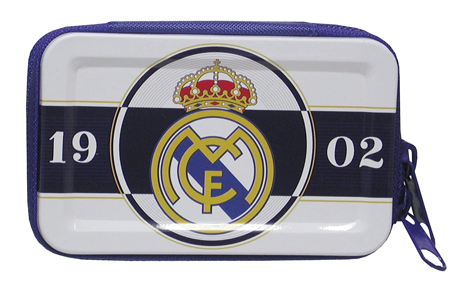 REAL MADRID CF Monedero rectangular de metal con cremallera