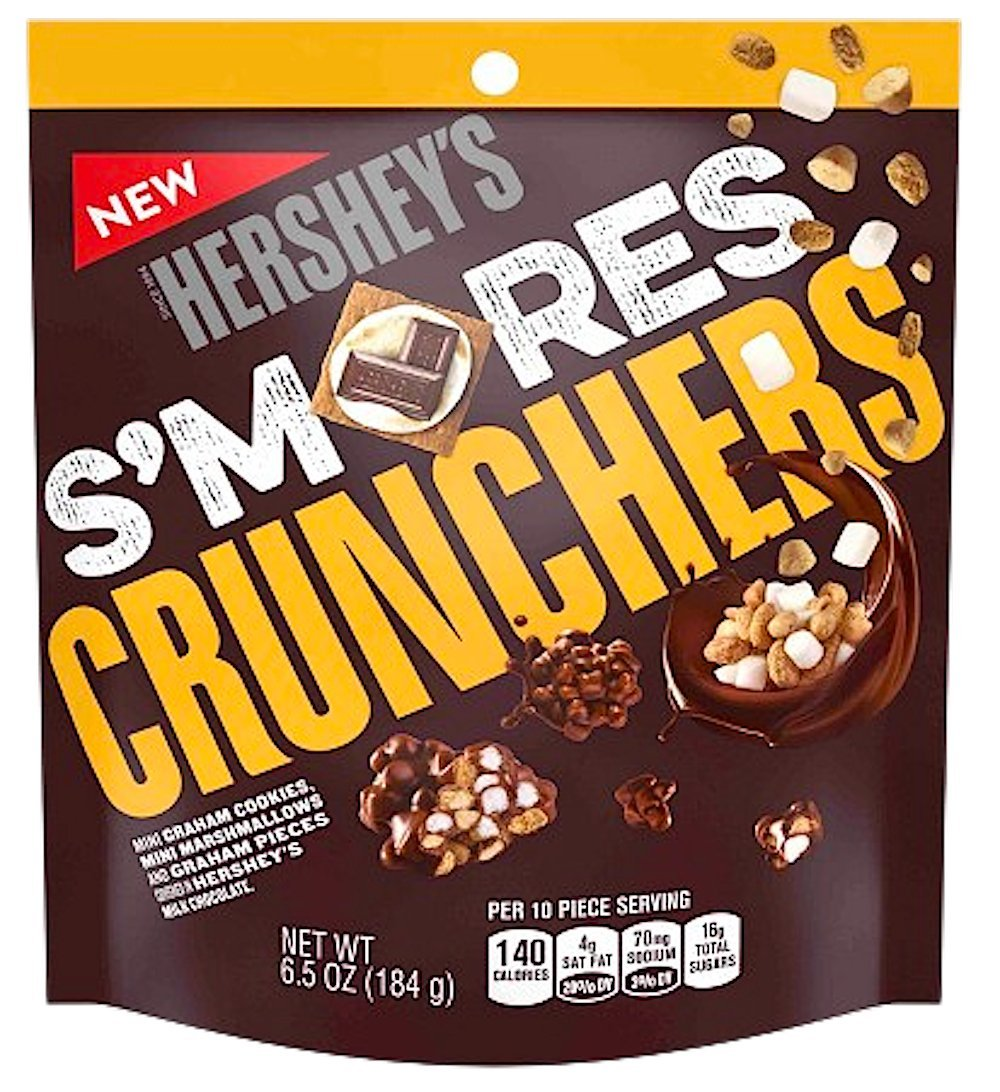NEW Hershey's S'mores Crunchers Mini Graham Cookies Mini Marshmallows Covered In Hershey's Chocolate Heaven- 6.5oz (1)