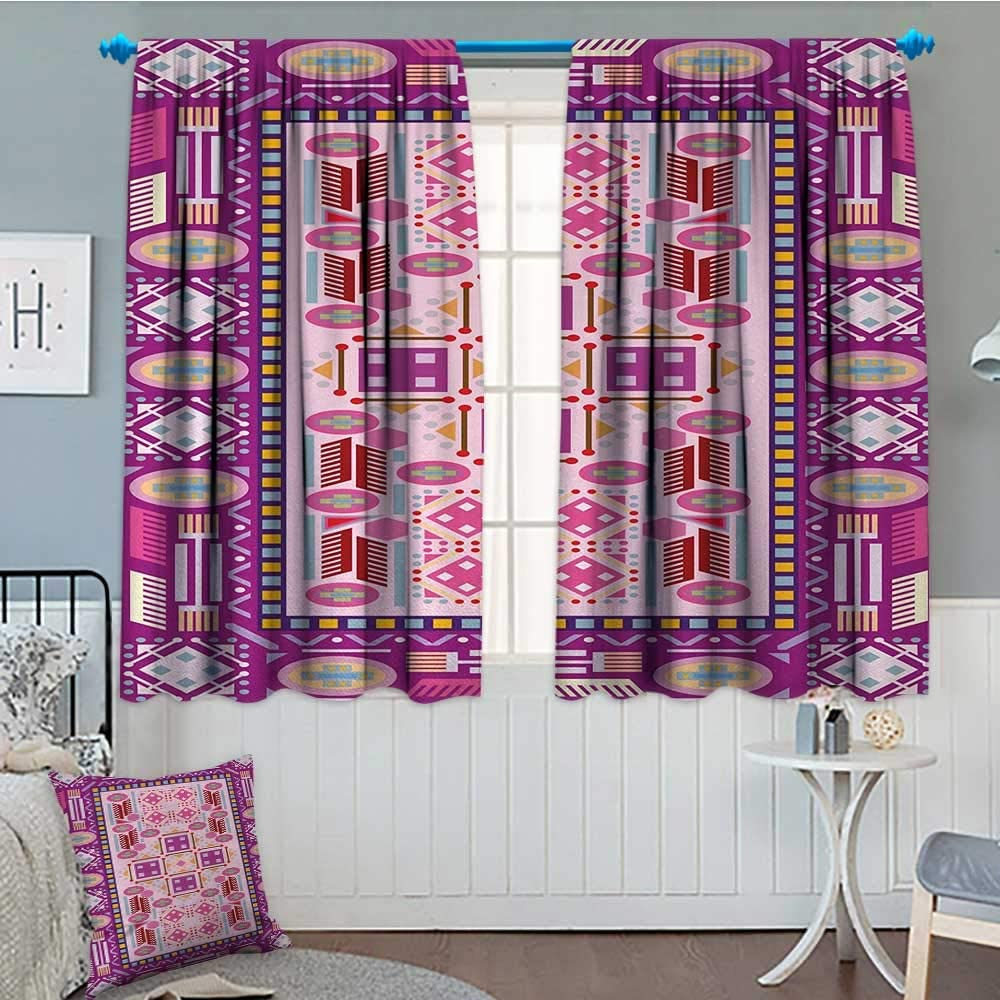 Anniutwo Afghan Window Curtain Fabric Traditional Oriental Design With Simplistic Geometric Shapes Eastern Culture Motif Drapes For Living Room 72 W X 84 L Multicolor Amazon Co Uk Kitchen Home