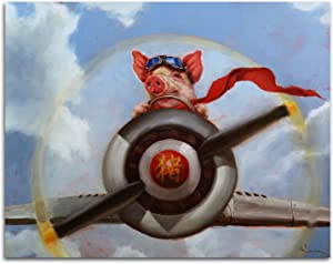 Gango Home Decor Horizontal When Pigs Fly by Lucia Heffernan (Printed on Paper); One 14x11in Unframed Paper Poster