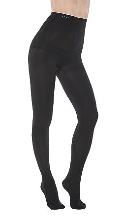 Vivaleg Secret Fit High Waisted Tights Stockings Black M Leggings Women