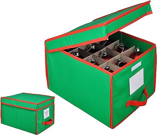 Bolas Navidad Box – Caja para guardar 24 bolas verde/rojo bolas: Amazon.es: Hogar