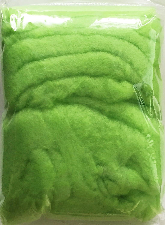 grün Art.12025 MAIGRÜN COLOR- WATTE 150 g Farbwatte bunte Dekowatte farbige