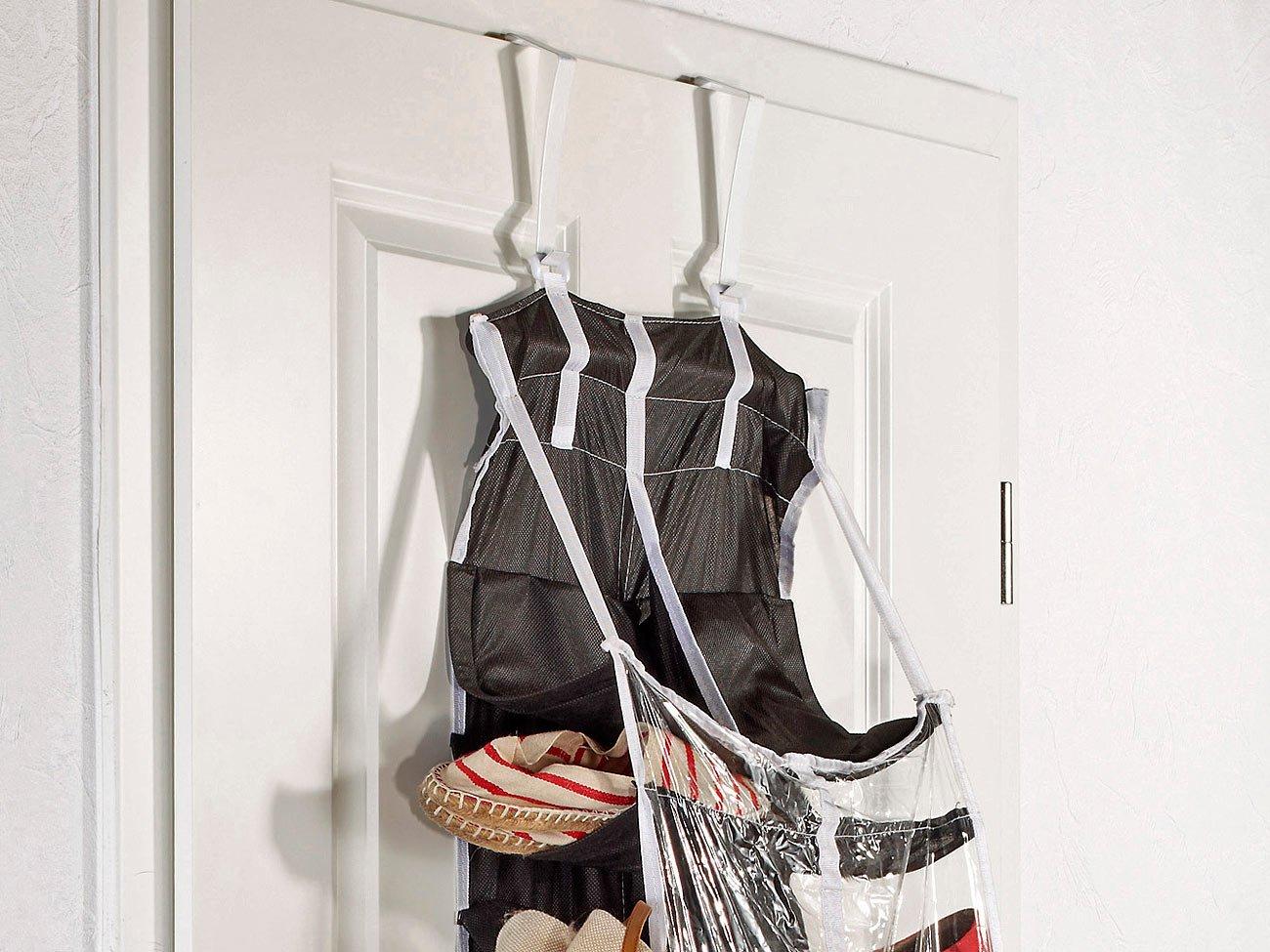 Schuhregal zum Aufh/ängen f/ür Kleidung infactory Schuhregal: H/ängendes Regal mit 30 F/ächern W/äsche und Schuhe