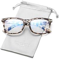 Blue Light Blocking Glasses Women Men Anti Eyestrain Computer Gaming Eyeglasses Vintage Square Frame Clear Lens