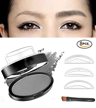 Beauty Essentials Eyebrow Powder Stamper Eye Brow Makeup Stamp Seal Palette Natural Definition Eyebrow Enhancers
