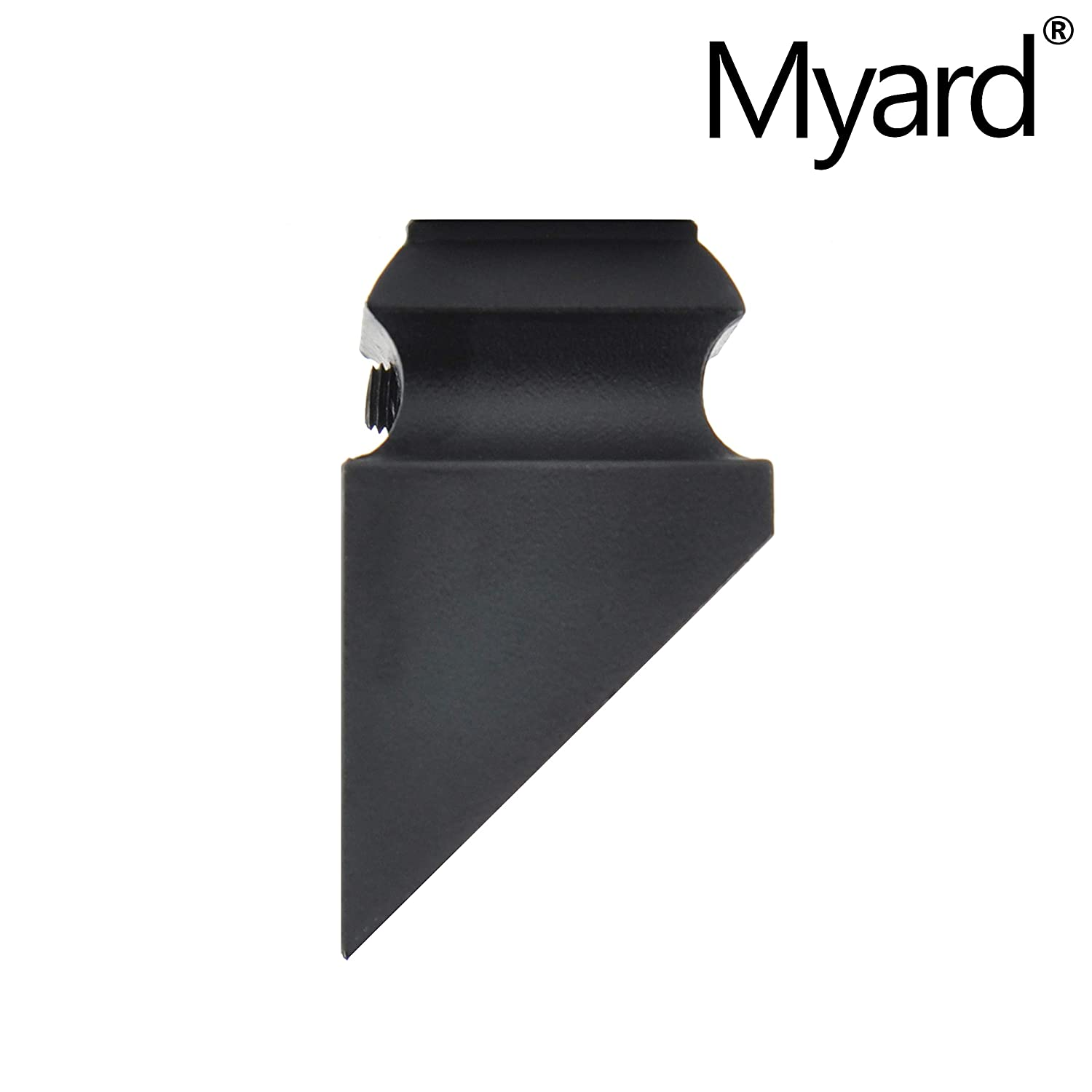 Oil-Rubbed Copper 44 Satin Black Myard Pitch Angled Slant Shoes with Screw for 1//2 Square Iron Stair Balusters 10-Pack