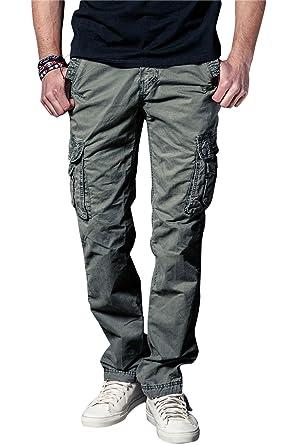 Herren Cargohose Chino Cargo Hose Workwear Cargo Pant Herren Hose für  Jungen und Männer 100% c024dadb1b