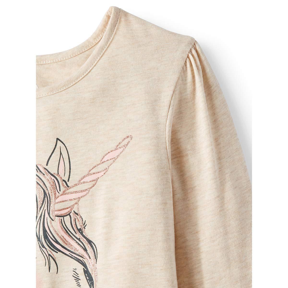 2 Piece Set Unicorn Beautiful Minds Inspire Rainbow Cream Top and Shimmering Pink Leggings Set
