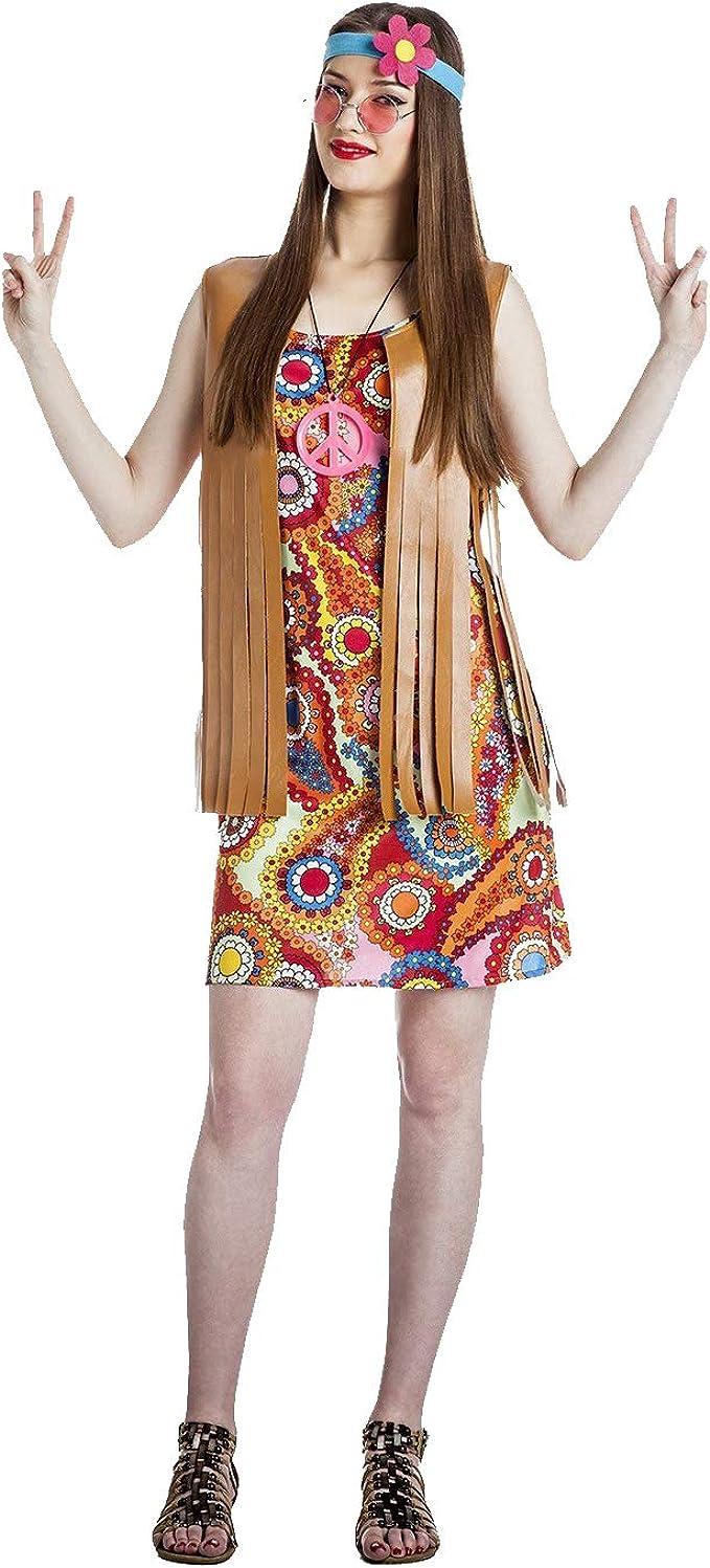 Disfraz de Chicha Hippie Talla M/L: Amazon.es: Ropa y accesorios