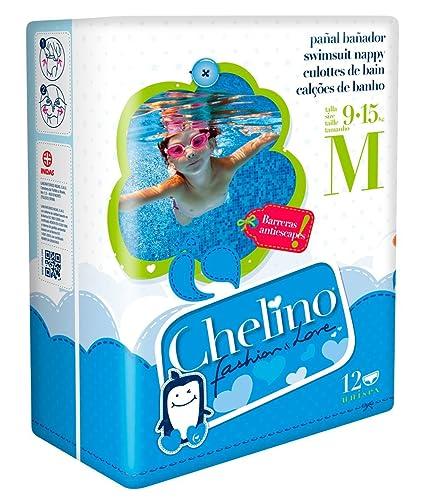 Chelino Fashion & Love - Pañal infantil de agua, talla M, 12 pañales