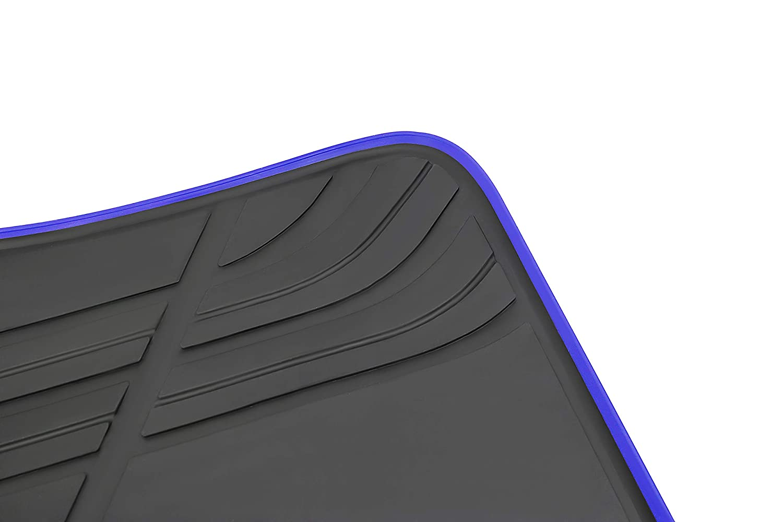 San Auto Car Floor Mat for BMW X3 G01 X4 G02 Custom Fit 2018-2019 Black /& Navy Blue,Rubber All Weather Heavy Duty /& Odorless