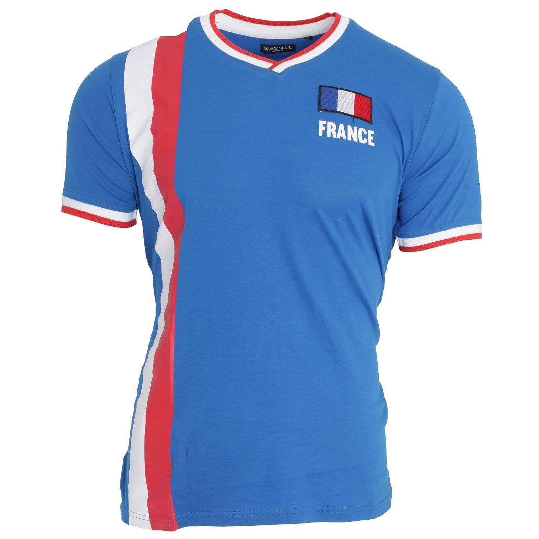Brave Soul Unisex France Short Sleeve Football T-Shirt UTSHIRT363_4