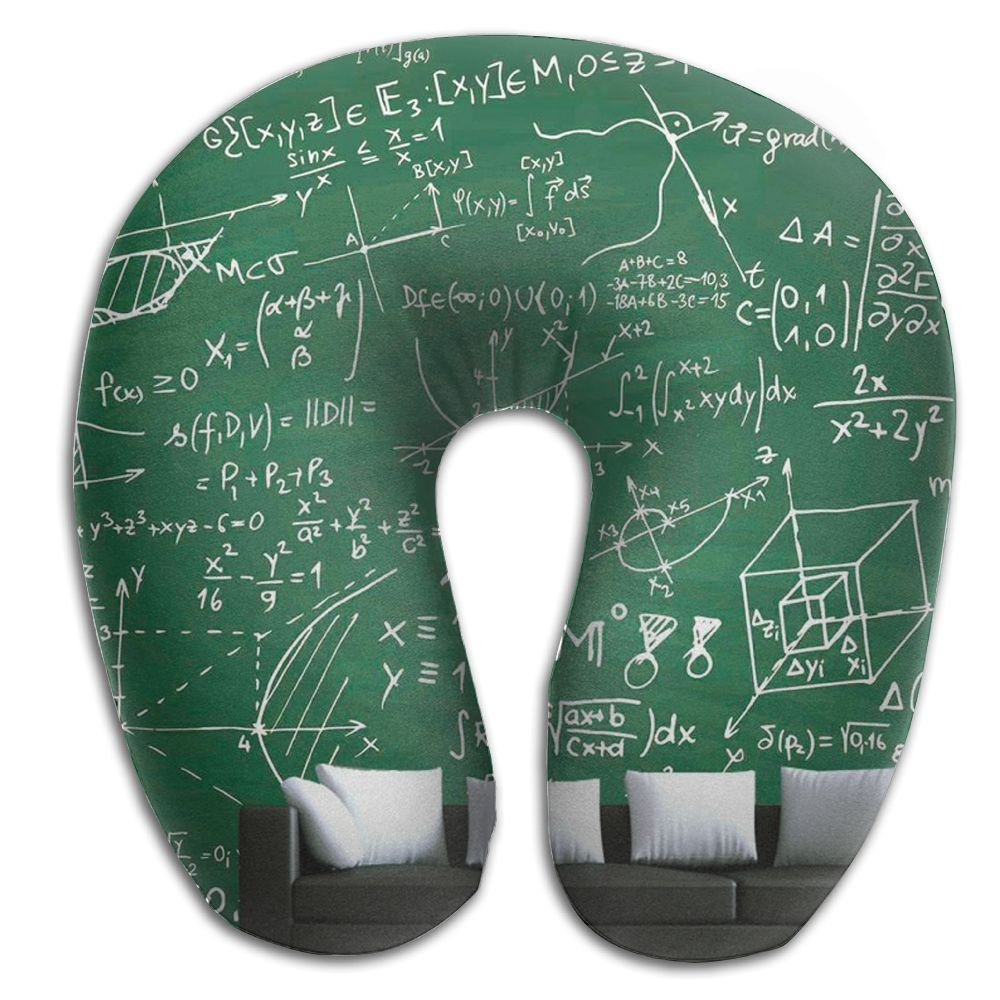 Neck Pillow With Resilient Material Math Wall U Type Travel Pillow Super Soft Cervical Pillow