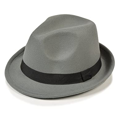 cb51fb161379b 子供用 帽子 中折れハット フェルト素材 マニッシュ フェルト キッズ ジュニア 子ども (グレー)