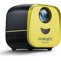 Mini proyector, VIVIBRIGHT Pico LED proyector L1 compatible con Full HD 1080p, proyector de bolsillo portátil compatible con PC, portátil, USB, tarjeta TF, apto para cine en casa, películas, juegos
