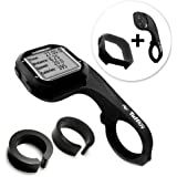Tuff-Luv 3 in 1 Combo Silicone Gel Skin Case and Screen Cover for Garmin 20 / 25 with Out-Front Handlebar Mount - Black
