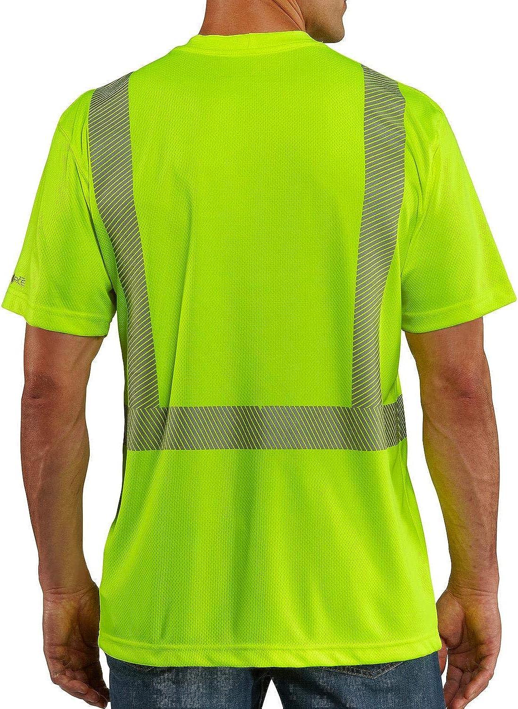 Carhartt Mens High Visibility Force Short Sleeve Class 2 Tee,Brite