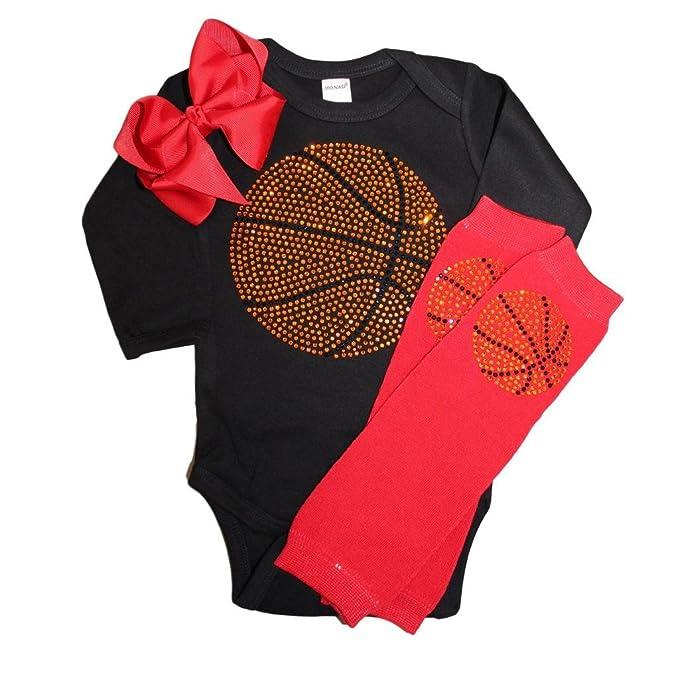 Amazon.com: Rhinestone bebé las niñas Baloncesto Negro ...