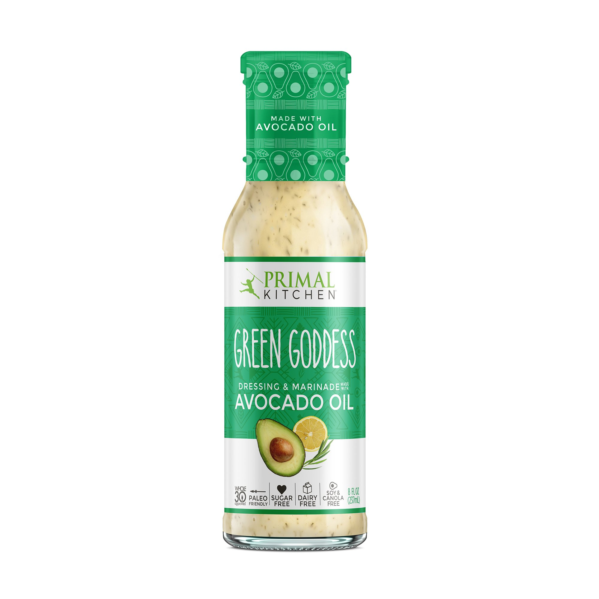 Primal Kitchen - Avocado Oil-Based Dressing and Marinade, Green Goddess, 8 fl oz, Whole30 and Paleo Approved