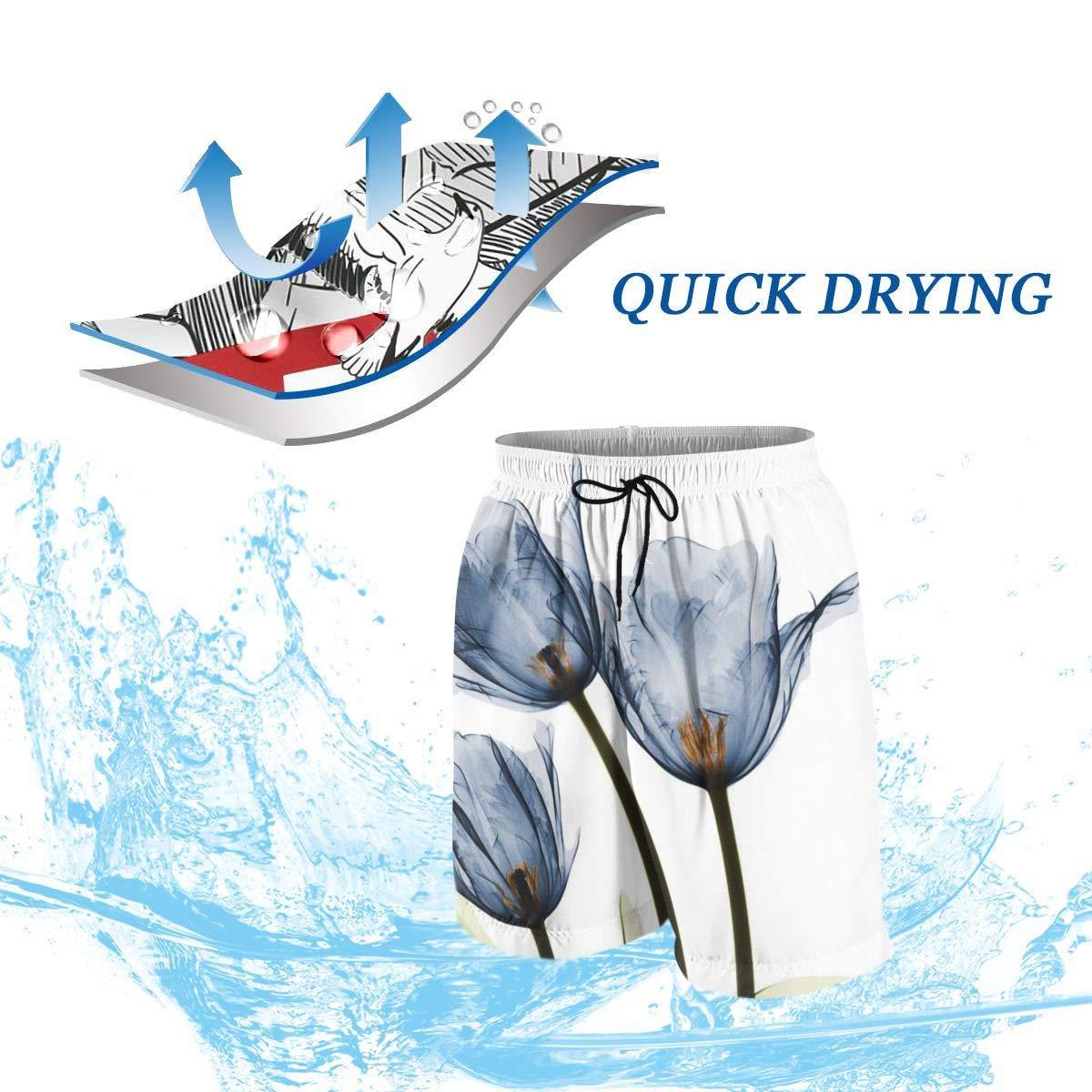 Mostico Nachill Blue Tulips Xray Teens Swim Trunks Sports Running Swim Board Shorts