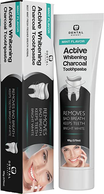 amazon com activated charcoal teeth whitening toothpaste fluoride