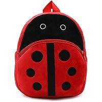 WSLCN Mini Backpack Kids Cute School Shoulder Bag Toddler Plush Small Backpack Baby Schoolbag Preschool Bag Gift Ladybug