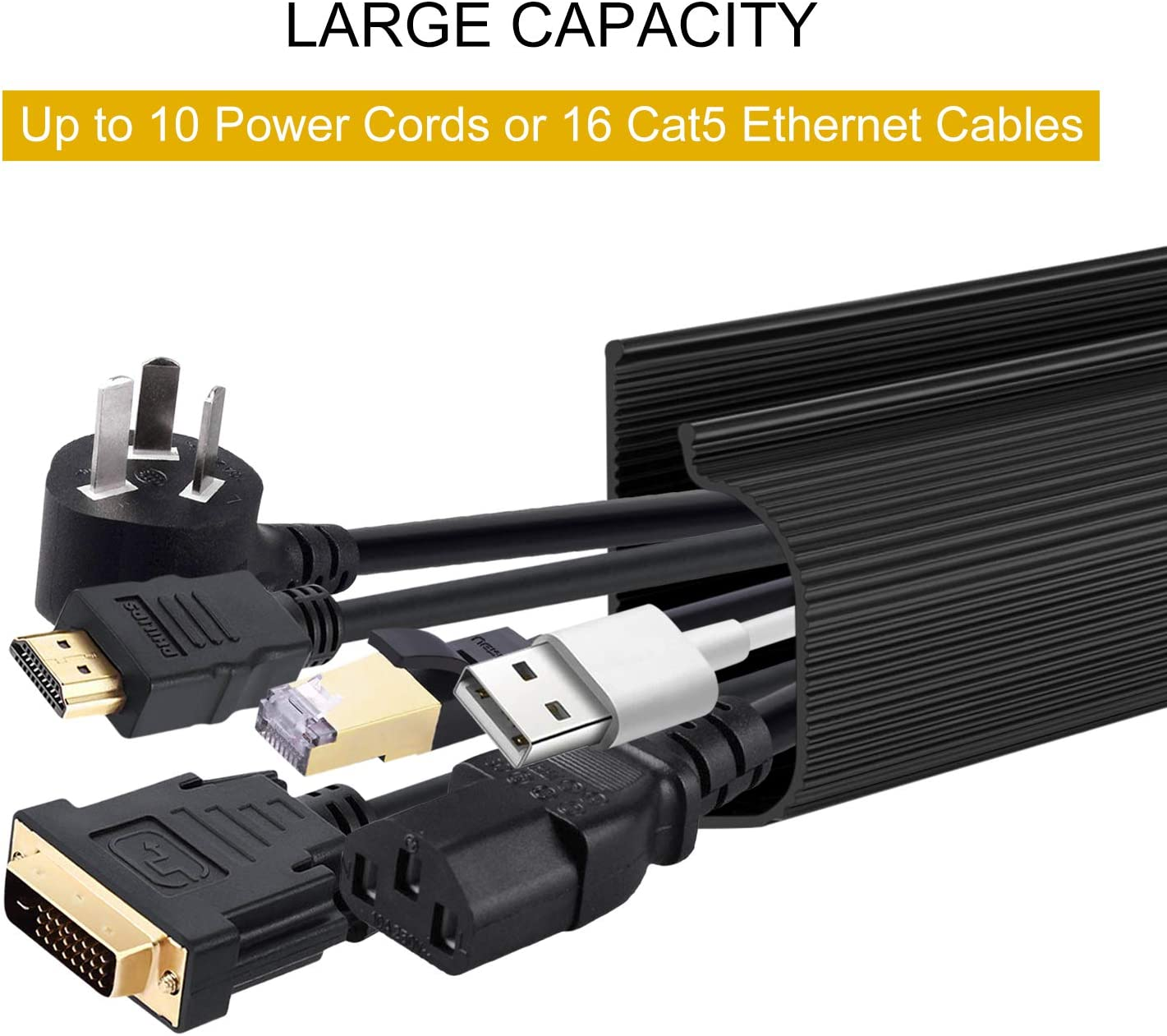 126 J Channel Cable Management,Desk Wire Manager,Cable Trunking,TV Cable Routing Slot,Wall-Mounted Cable Organizer,Used to Hide The Wires of TVs and Computers 15.75 Eachk 8pcs