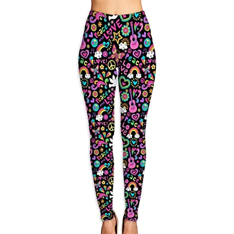 Amazon com : DDCYOGA Peace, Love, and Music Pattern Women's