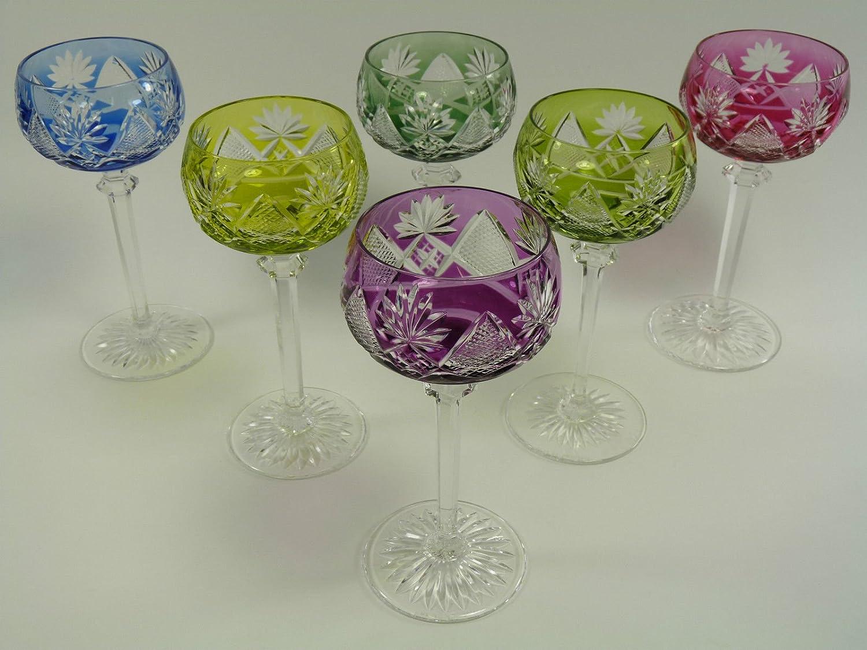 Val Saint Lambert BERNCASTEL Cristal Set de 6 Verres à vin