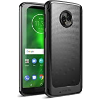 Poetic Moto G6 Case, Karbon Shield [Shock Absorbing] Slim Fit TPU Case with [Carbon Fiber Texture] for Motorola Moto G6 Black