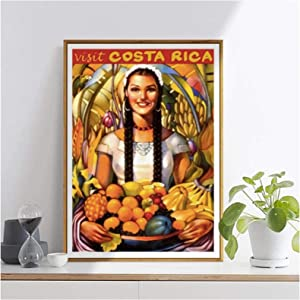 Empty Air Hostesses Stewardess Costa Rica Martinair Travel Tour Classic Retro Vintage Poster Canvas Home Decor Gift Print On Canvas -60X90Cm No Frame