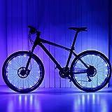 Ailiebhaus Fahrrad Licht 20 Led Rad Speichen Wasserdichte Speichenlicht ,2 Optionen vom Lichtmodus