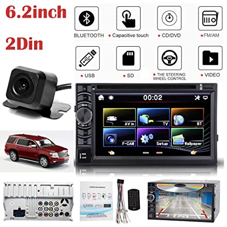 MirrorLink - Radio AM/FM para coche (pantalla táctil, 2 DIN, Bluetooth