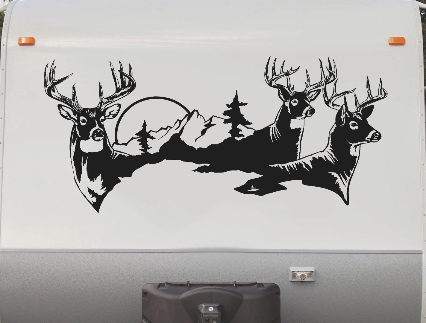 Amazon com deer buck rv camper trailer camping stripe decal sticker graphic mural dd1001 automotive