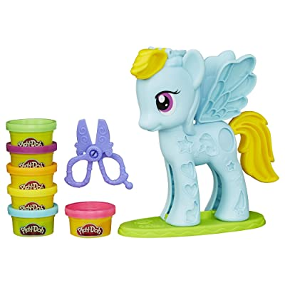 Play-Doh My Little Pony Rainbow Dash Style Salon Playset: Toys & Games