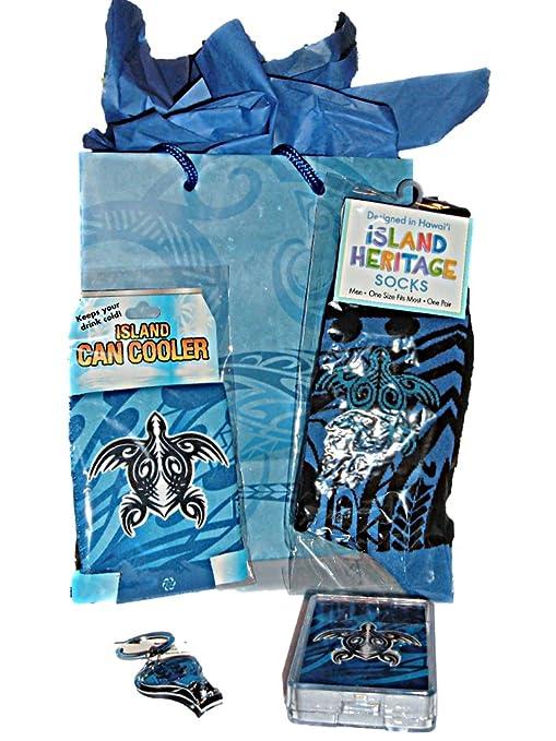 Amazon.com : Hawaiian Gift Set for Men Hawaii Tribal Honu Turtle Socks & Matching Gifts Souvenirs : Everything Else