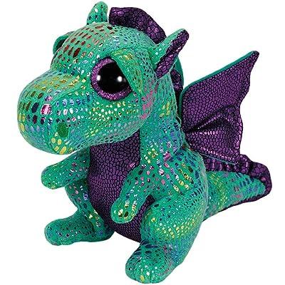 Ty Beanie Boos Cinder The Green Dragon Plush: Toys & Games