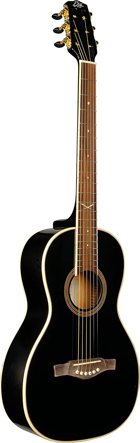 EKO Guitars 06217034 NXT PARLOR Acoustic Guitar, Black