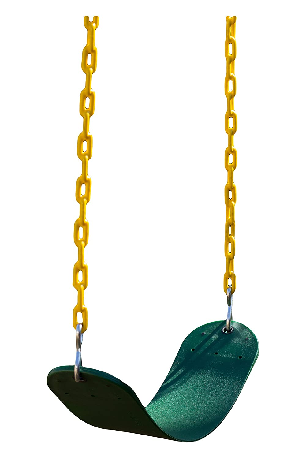 Safari Swings Tough Swing Seat Replacement with 66 Heavy Duty Coated Chain Green/Yellow