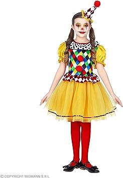 WIDMANN Disfraz de Payasa Rombos para niña M-(8/10 años): Amazon ...