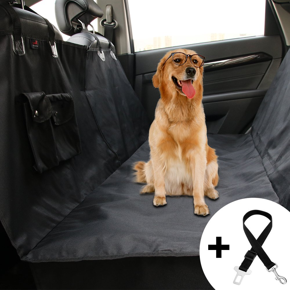 Amazon Honest Dog Car Seat Covers With Side Flap Pet Backseat Cover For Cars Trucks And Suvs Zipper Pocket WaterProof NonSlip