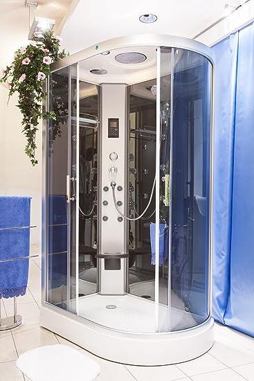 box doccia idromassaggio atene 120x80 sinistro sauna bagno turco e ozono