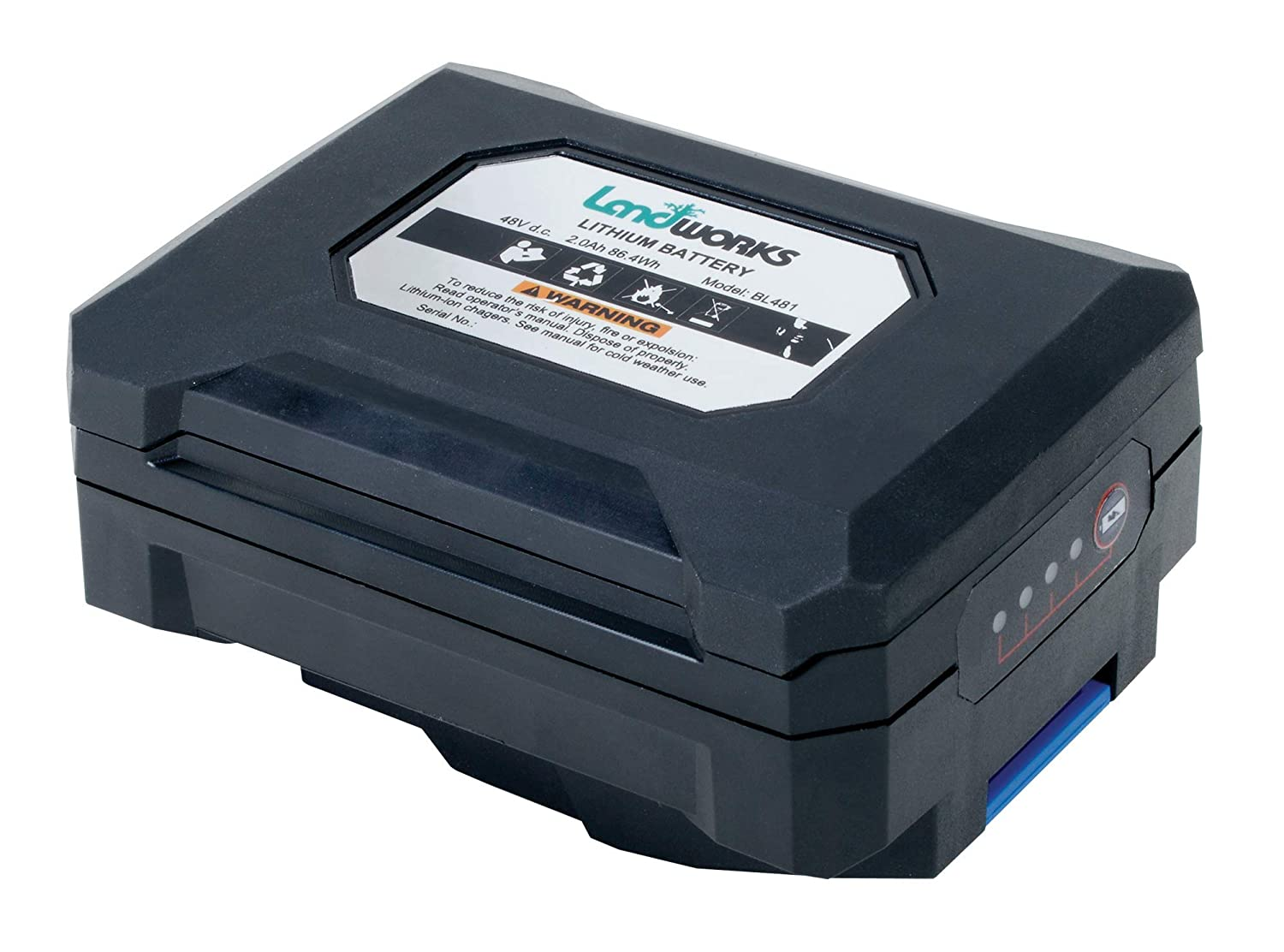 Landworks Heavy Duty Pro Lithium Ion Battery Charger 100-240V AC 50/60Hz 2.5A (Charger ONLY) (for Landworks 2Ah/4Ah Batteries to Power Landworks 48V Earth/Ice Auger Power Head [Both NOT Included])