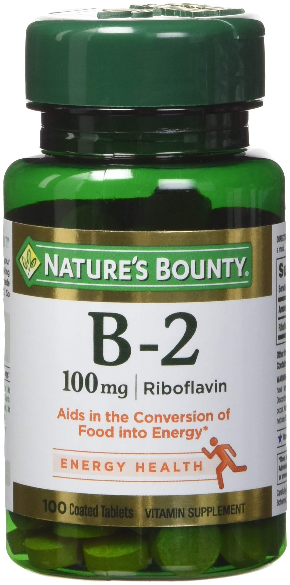 Nature's Bounty Vitamin B-2 100 mg, 100 Coated Tablets (Pack of 4) by Nature's Bounty
