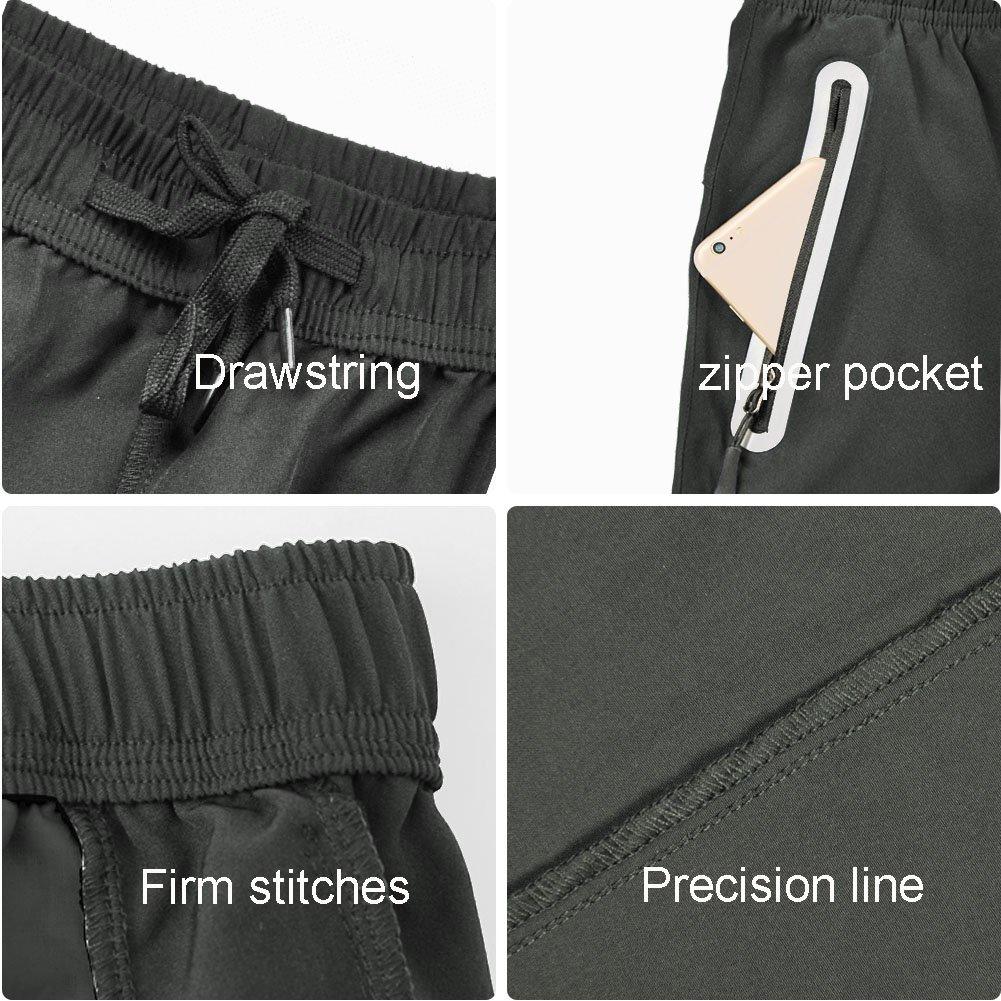 Gititlys Running Workout Shorts with Zipper Pockets Quick Dry Lightweight